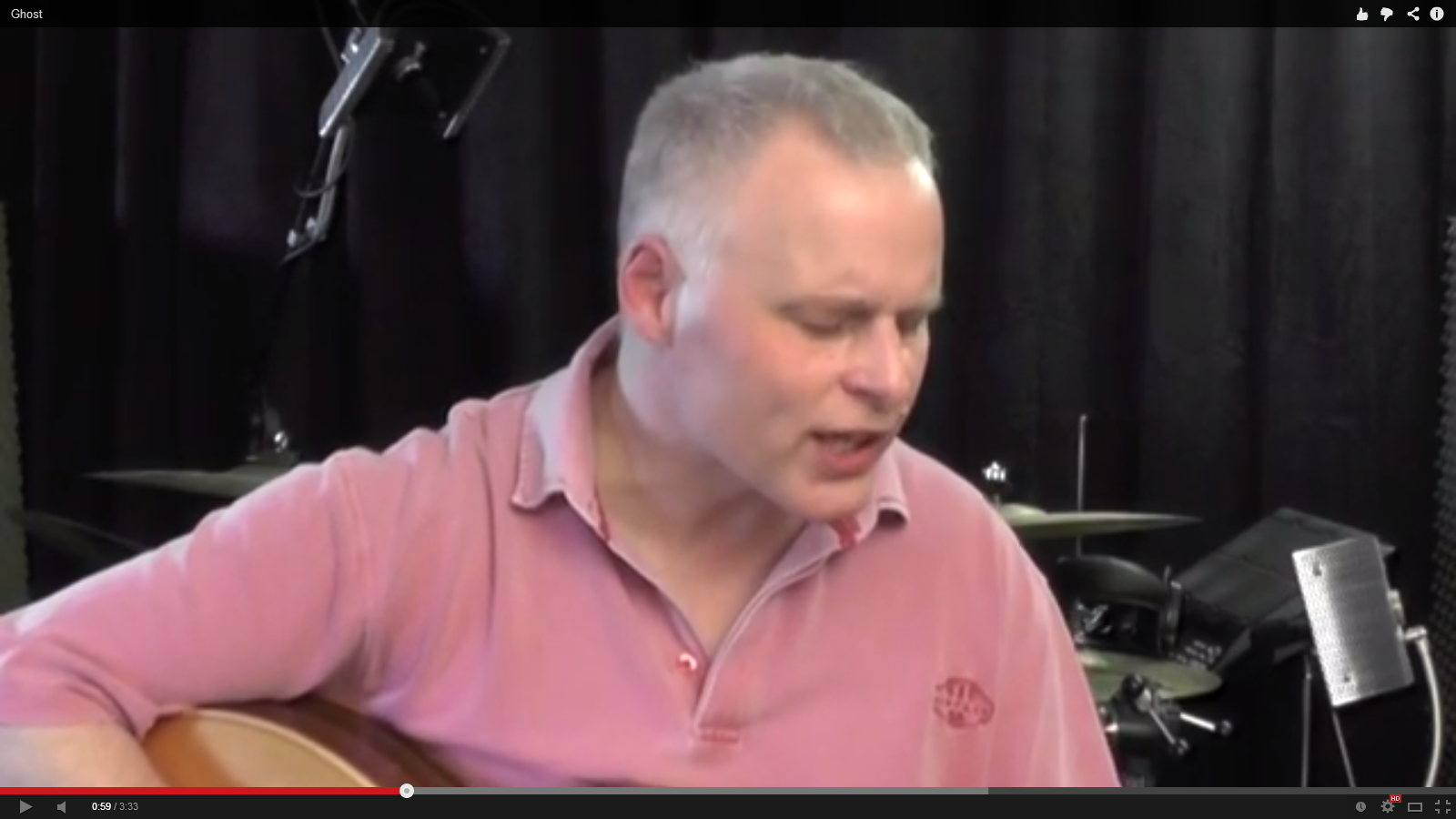 Just Finished … 2-Track Audio/Video Session with local Singer/Songwriter Nigel Cowey